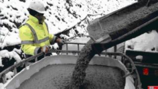 Как залить бетон в холодный период