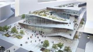 Студия Kengo Kuma and Associates разработала проект ж/д вокзала во Франции