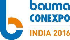 BAUMA CONEXPO INDIA 2016 набирает обороты