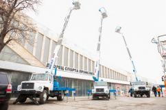 Компания «Русбизнесавто» и ВИПО продемонстрировали крановую технику в Волгограде