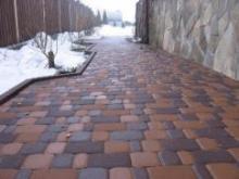 Как защитить тротуарную плитку на зиму