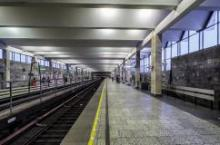 """В Санкт-Петербурге на станции метро """"Рыбацкое"""" тестируют новые рельсы"""