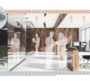Решения Uponor: система поверхностного охлаждения для офисов